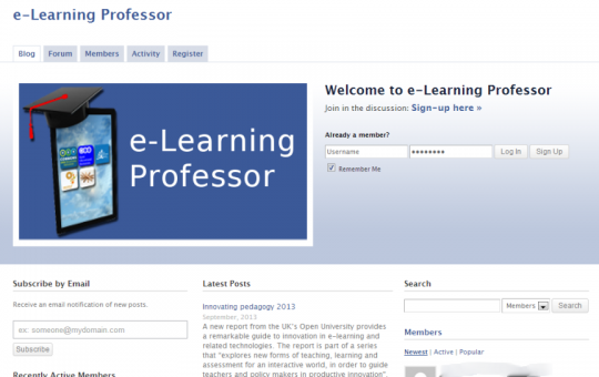 E-learning Professor
